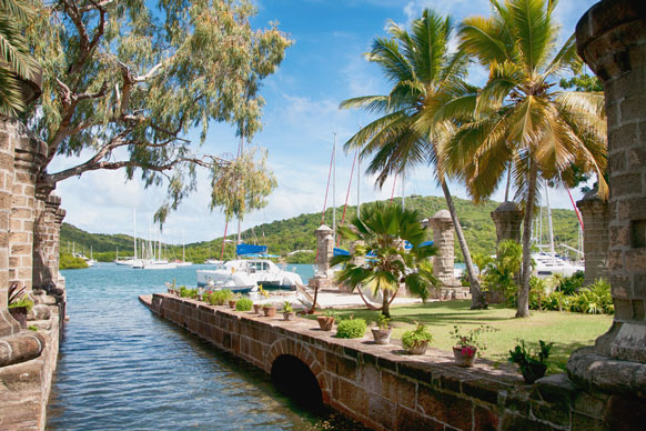 boat dockyard in Falmouth, Antigua