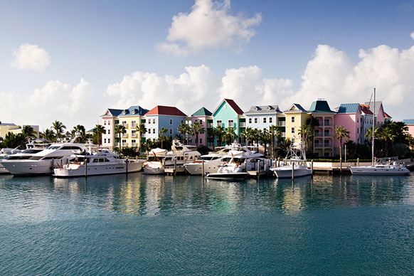 marina in The Bahamas
