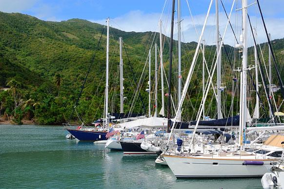 sailboats near Tortola, BVI