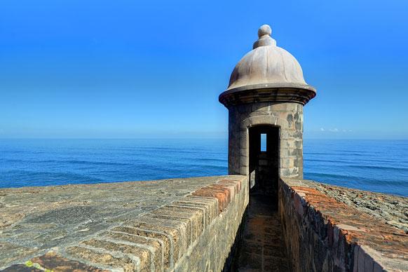 castle turret in San Juan, Puerto Rico