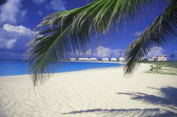 Sandy beach on the Caribbean island of Anguilla