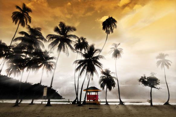 lifeguard hut on Maracas beach, Trinidad